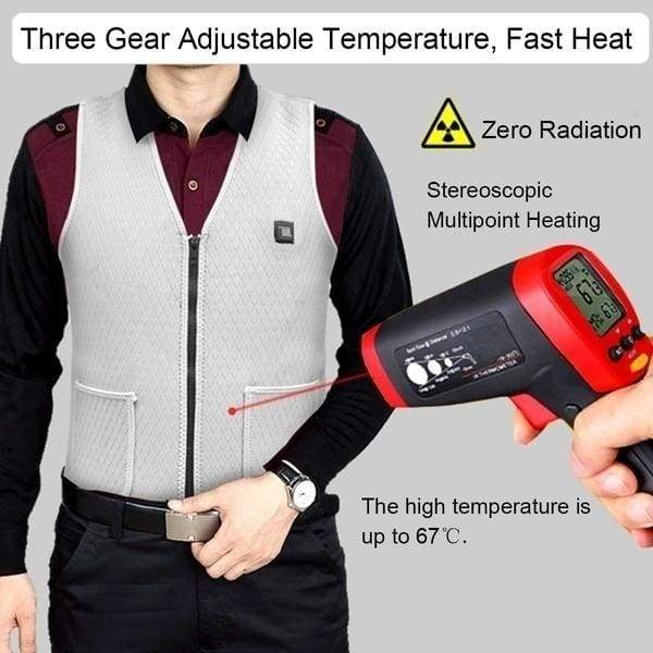 New Winter Man Woman Fashion Usb Interface Electric Heated Inner Vest Heating Sleevless Jacket Slim Fit  Heated Vest
