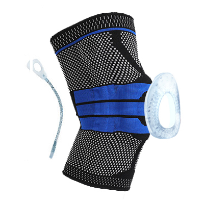 1 PC Silicone Padded Knee Pads Supports Brace Basketball Fitness Meniscus Patella Protection Kneepads Sports Safety Knee Sleeve