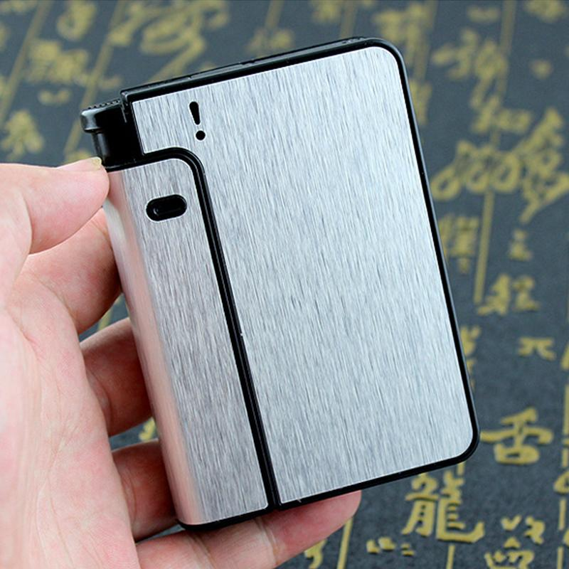 Buy 1 Get 1 Free🔥Automatic Cigarette Case 10pcs Cigarette Capacity Can Mount Lighter Metal Cigarette Box for Men Smoking Nice Gift