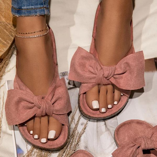 Bonnieshoes Summer Bow Flat Sandals
