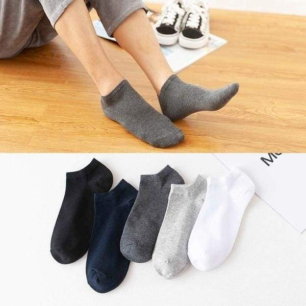 20/10/6/2pcs Men's Low Cut Socks Shallow Invisible Socks Spring and Summer Short Socks Pure Cotton Breathable Socks