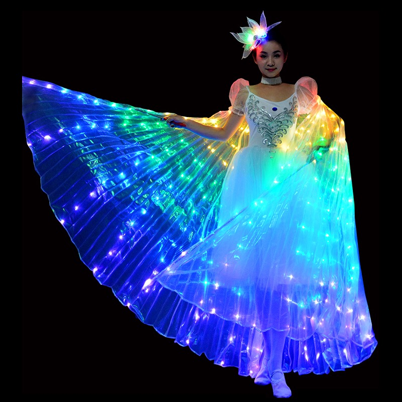 【Last Day Promotion &Free On-Time Delivery】Smart LED Light Up Angel Butterfly Wings