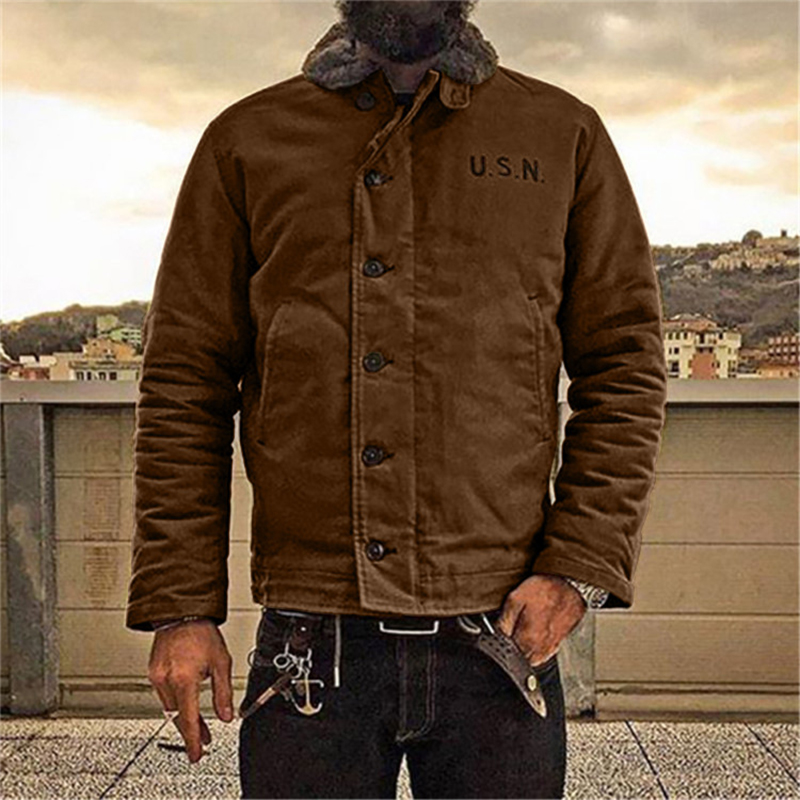 (⏰Clearance Price💥50% OFF!!) 2021 NON STOCK N-1 Deck Jacket Vintage USN Military Uniform For Men N1