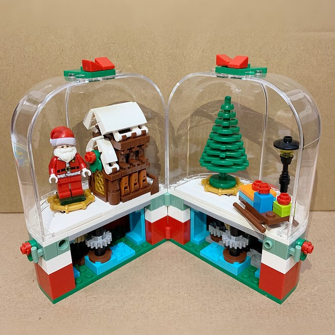 💥40% off Christmas sale💥Christmas Building Blocks Spinner House🎅