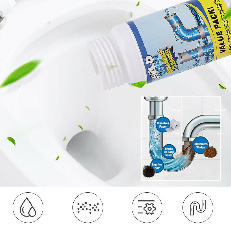 [BUY 2 GET 1 FREE & FREE SHIPPING] New Powerful Pipe Dredging Agent Kitchen Sink Drain Cleaner