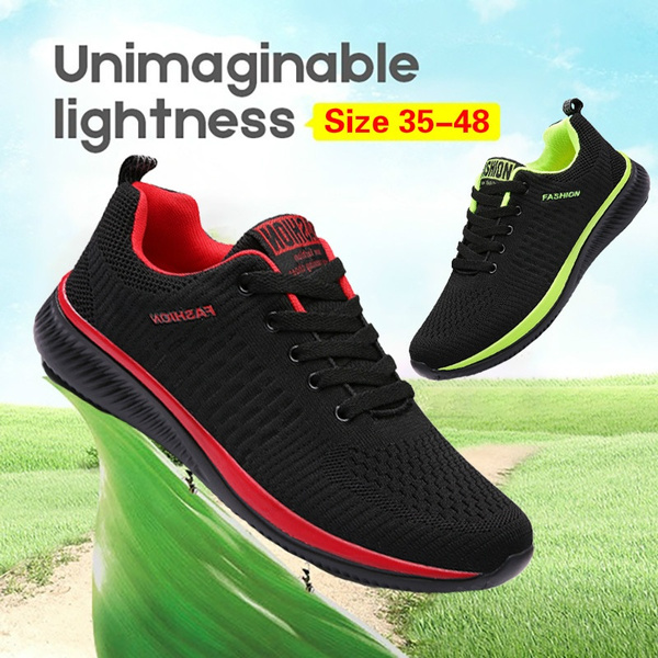 Men Casual Sneakers Breathable Mesh Sport Shoes Men Light Lace-up Footwear Walking Sneakers Tenis Masculino (Size 35-48)