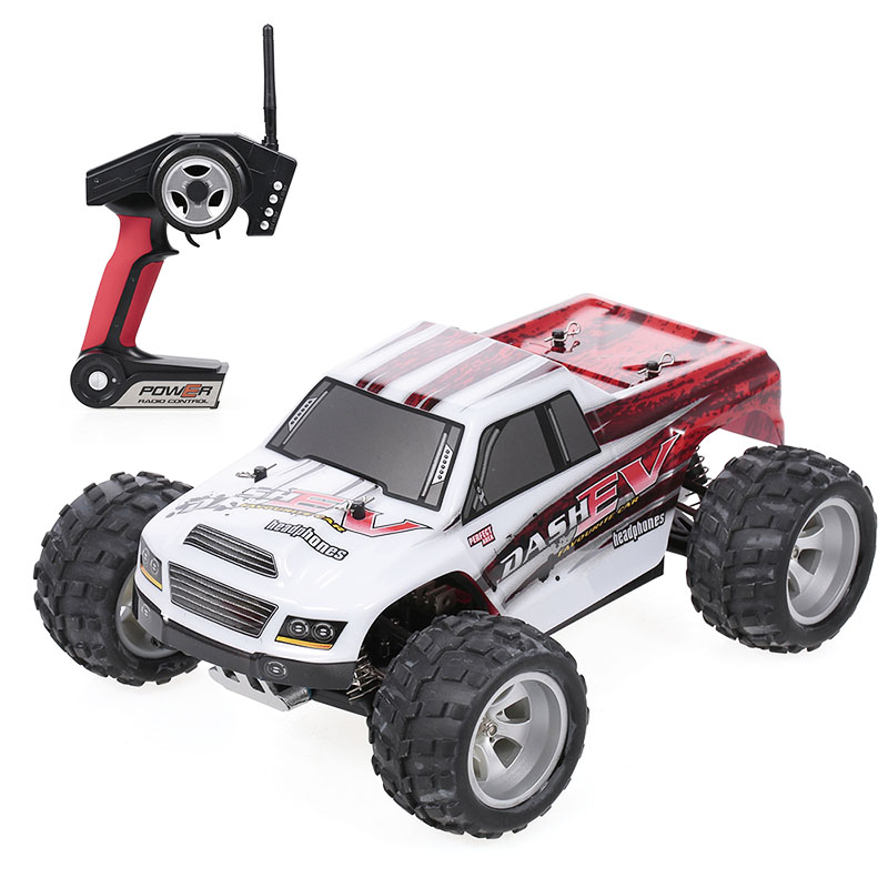 WLtoys A979-B 2.4G 1/18 RC Car 4WD 70KM/H High Speed Electric Full Proportional Big Foot Truck