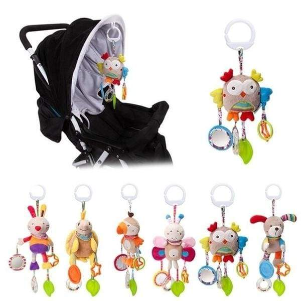 Cartoon 0-24months Baby Crib Educational Toys Bed Stroller baby mobile Hanging Rattles Newborn Plush Toy infant toys for baby