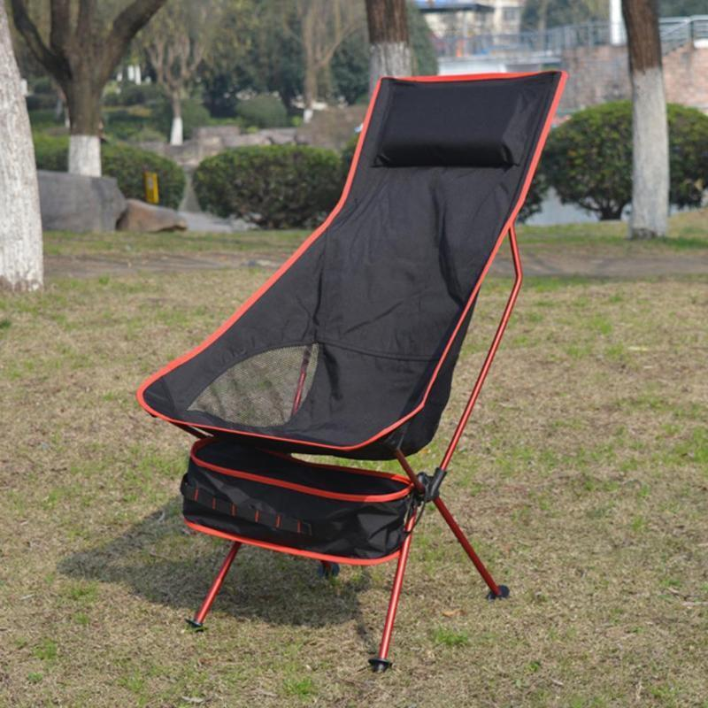 Portable Folding Chair Camping Fishing Camping Chair Backpack Outdoor Wood Camping Chair Seat 600D Oxford Picnic Beach BBQ Tool