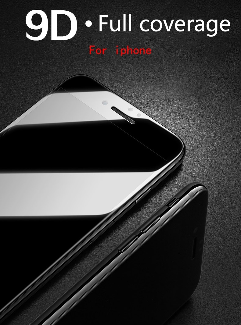 9D Protective Glass for iPhone 6 6S 7 8 Plus X Glass on iPhone 7 6 8 X XR XS MAX Screen Protector iPhone 7 6 Screen Protection