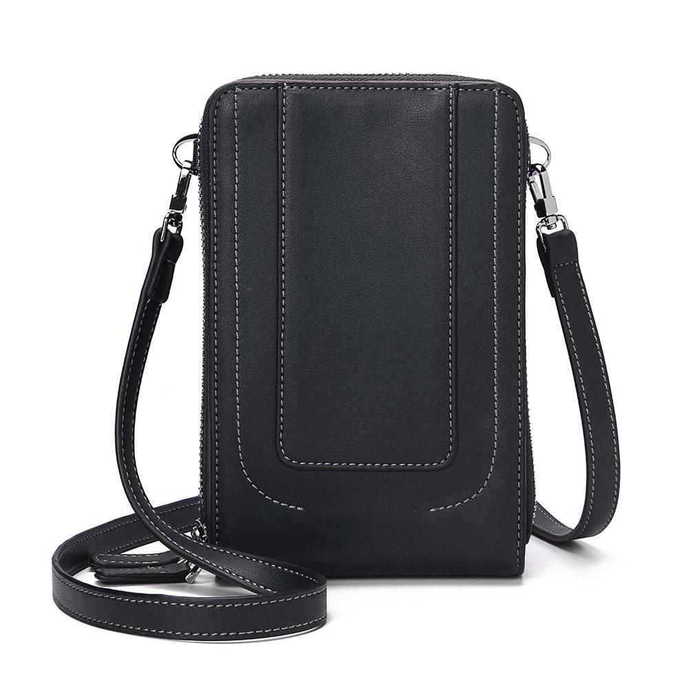 Women Flap Solid Card-slots Phone Bag Crossbody Bag