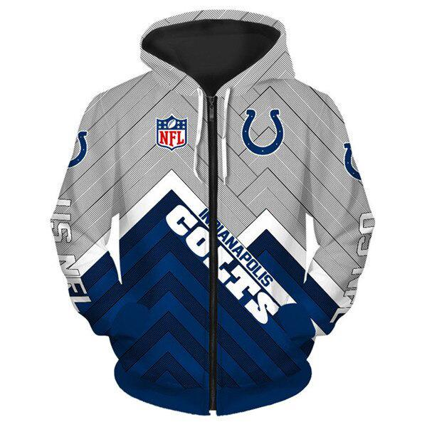 Indianapolis Colts 3D Printed Zipper Hoodie