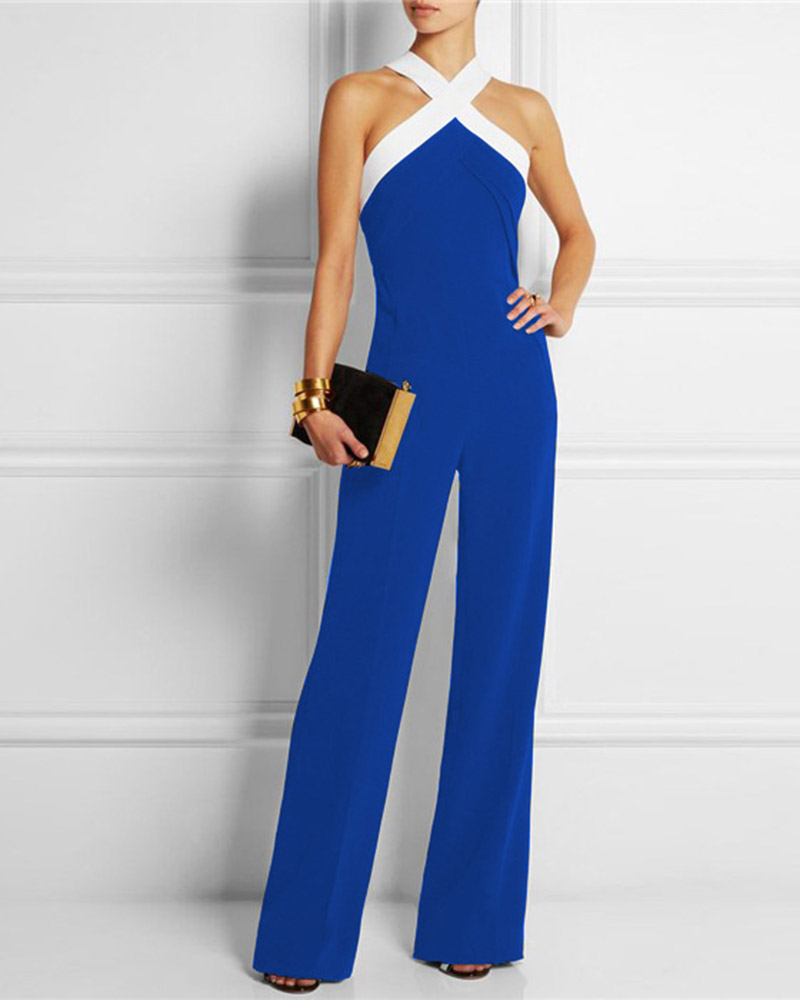 Sexy Leaky Shoulder Waist Jumpsuit