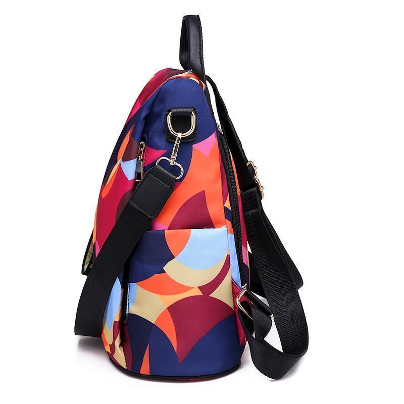 </Br>Oxford Printing Design Anti Theft Travel Backpack