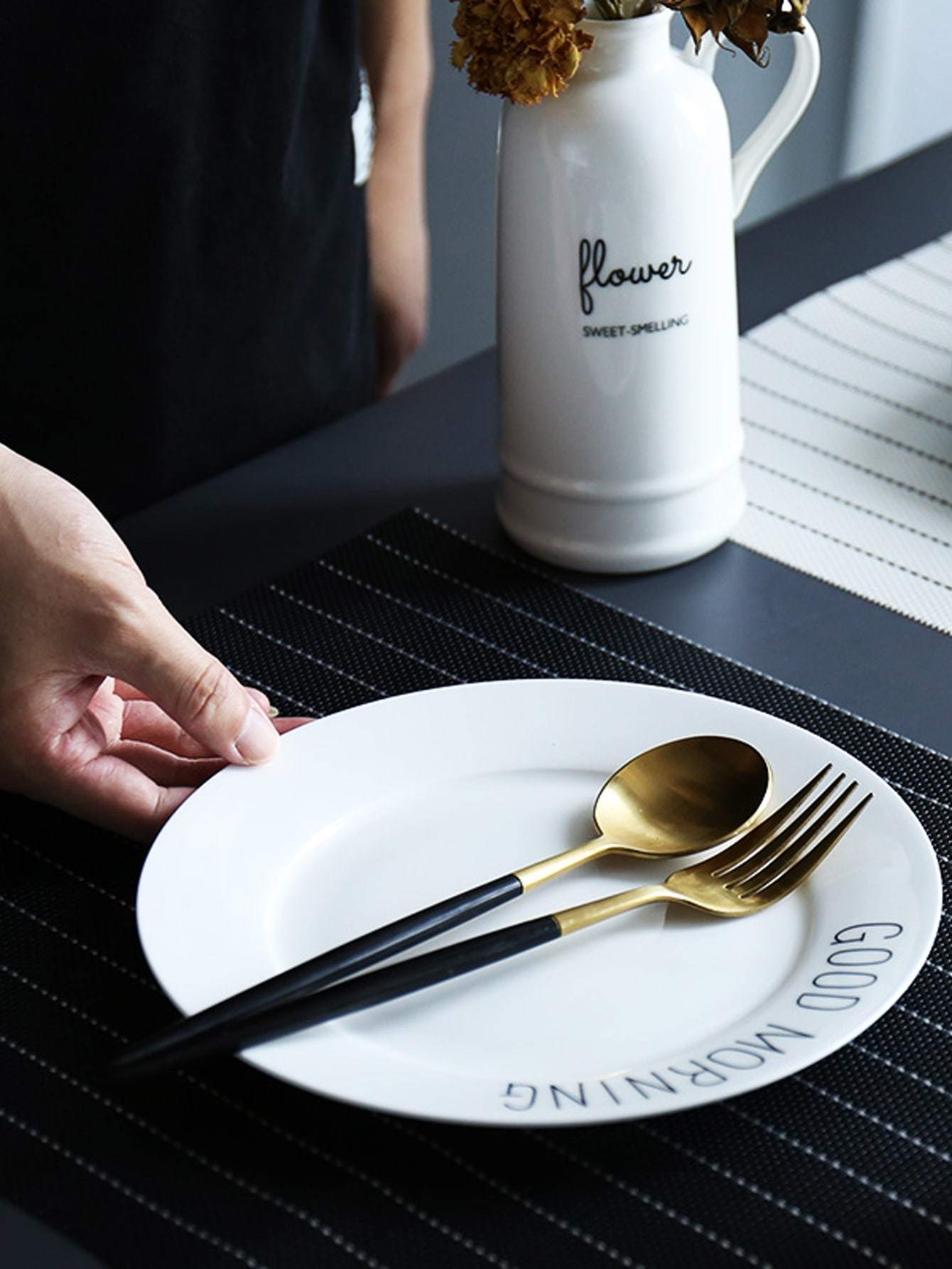 Contrast Striped Placemat 1pc