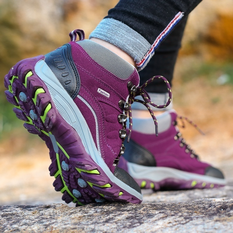 Women Casual Hiking Boots Summer New Breathable Waterproof Non-slip Shoes Outdoor Trekking Sneakers