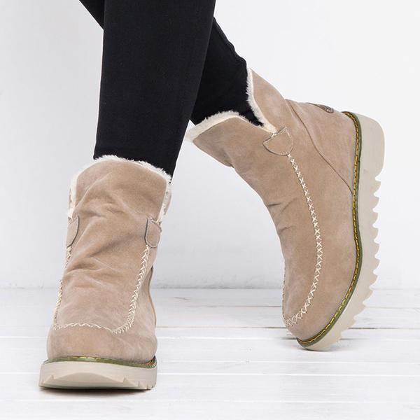 Bonnieshoes  Fur Lining Ankle Snow Boots