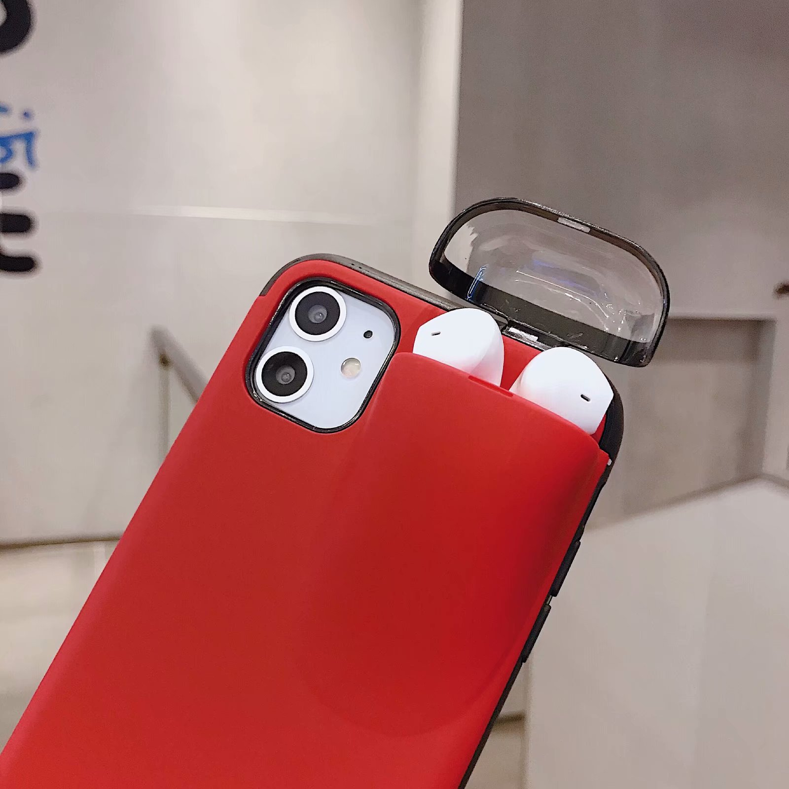 (🔥Last 2 Days Promotion- 60% OFF🔥) 2 in 1 Airpods IPhone Case