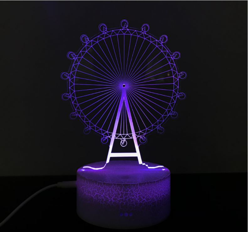 3D Night Light. Multiple Colour,40% OFF (Buy One Get One Free)