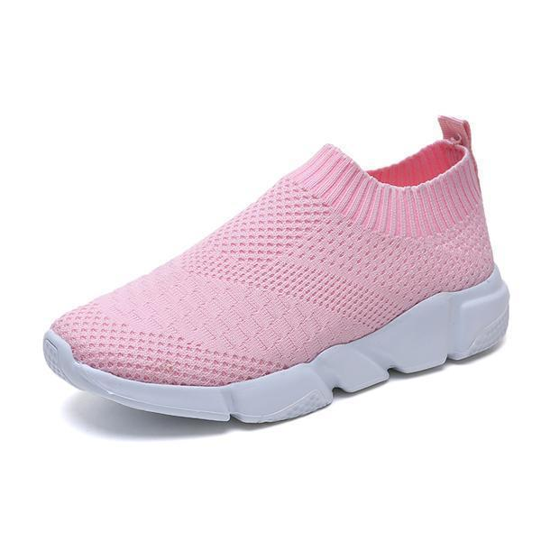 Knitted Breathable Elastic Cloth Sneakers