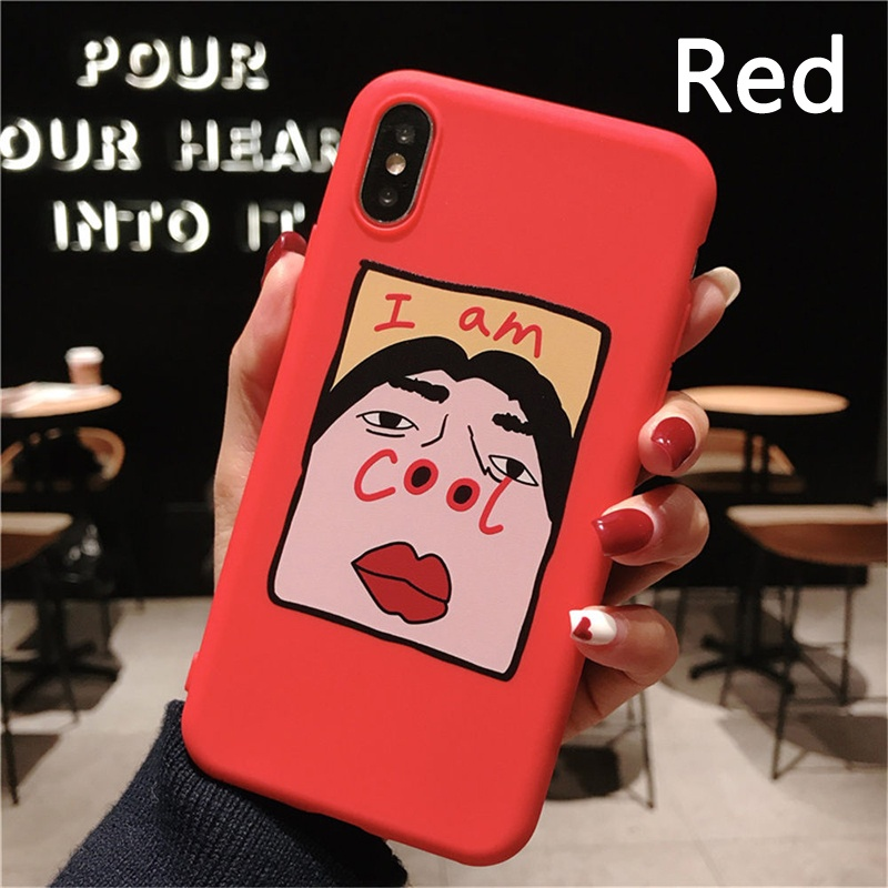 Funny Phone Case For iPhone 11 11 Pro 11 Pro Max 6 6s 7 8 Plus XR X XS MAX XR X 5 5s SE Letter I AM COOL Fashion Funny Soft TPU Back Cover Phone Case For Samsung Galaxy Note 10 A50 A70 S6 Edge S8 Plus S9 S10e A9 (2018) J4 Plus OnePlus Xiaomi Redmi K20 No