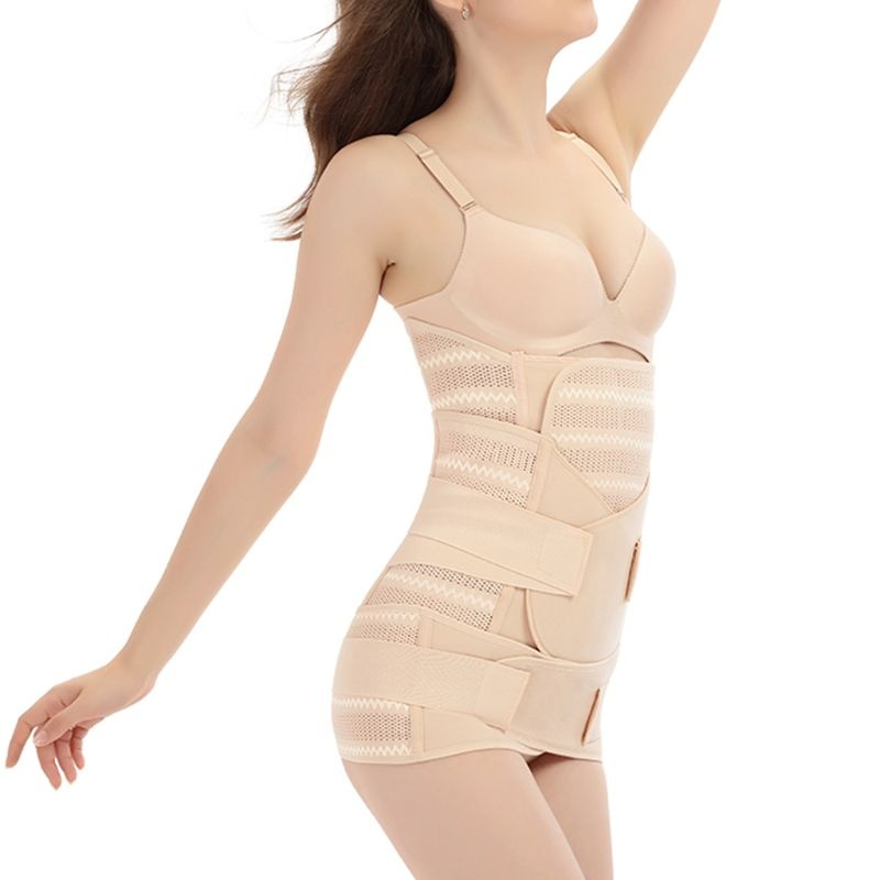 Womens Postpartum Belly/Waist/Pelvis Belt Body Shaper Waist Trainer Corset 3in1 WYU