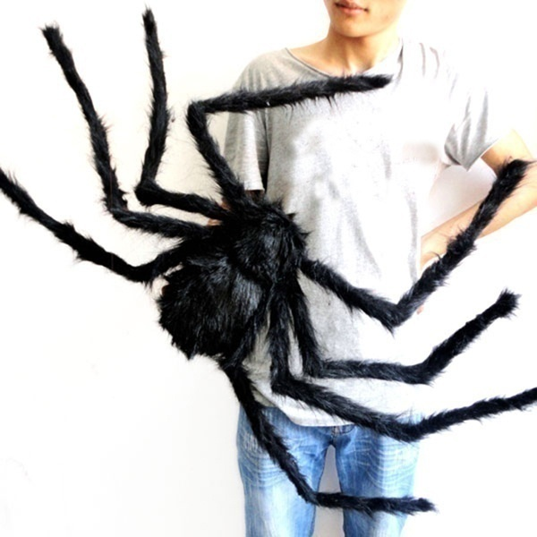 7 Sizes Halloween Hanging Decoration Giant SPIDER House Haunted Outdoor Yard Halloween Decor Eight Legged Freaks Invasion(30/50/75/90/125/150/200CM)