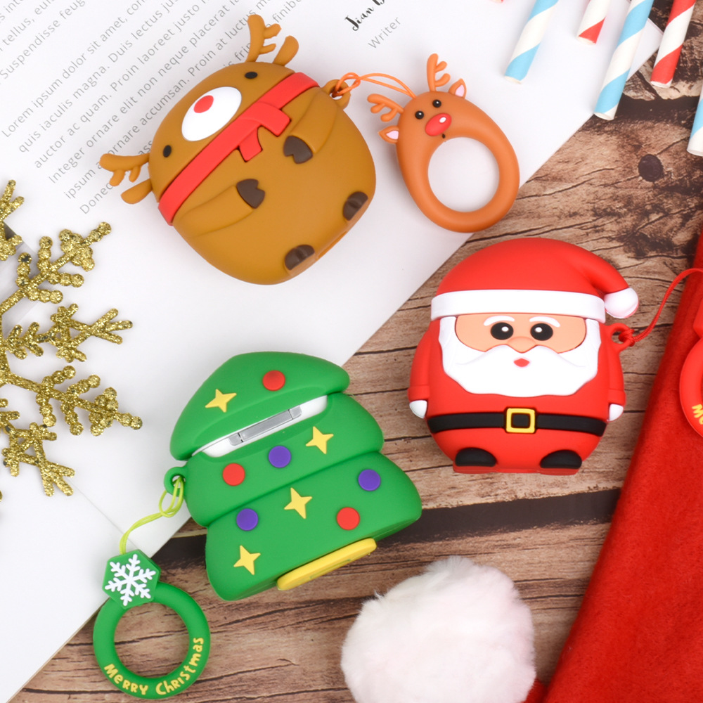 3D Cute Christmas Cartoon Headphone Cases