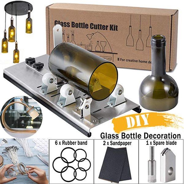 DIY Glass Bottle Cutter Wine Beer Champagne Bottle Cutter Adjustable Sizes Metal Bottle Cut Machines For Crafting Wine Bottle Lamp,Creative Decorations Household Cutting Tool