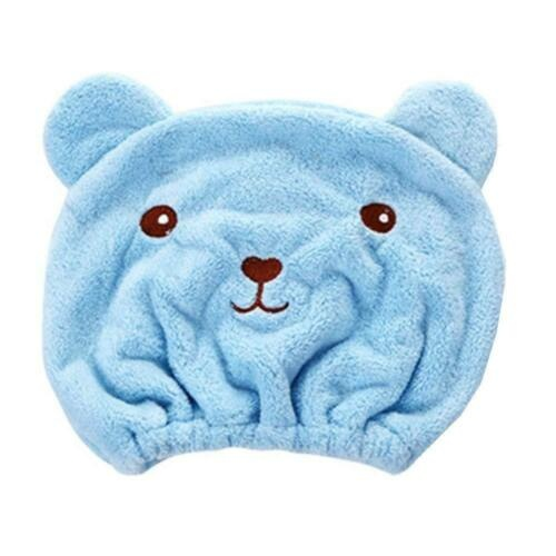Cute bear lady dry hair cap quickly absorbs water and speeds dry hair!