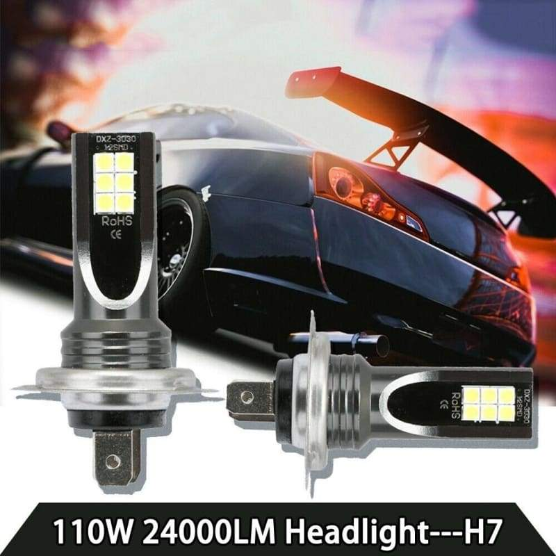 H7 110W 24000Lm LED Car Headlight Conversion Globes Bulbs Beam 6000K Kit