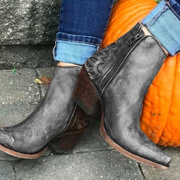 Zoeyootd Vintage Casual Winter Boots