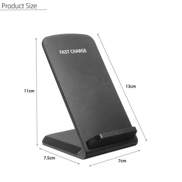 10W Qi Wireless Dual Coil Fast Charger Stand Dock Phone Holder Pad For iPhone X/Xr/Xs/Xs Max/8/8 Plus and Galaxy Note 9/8/5 S9/S9+ S8/S8+S7/S7 Edge S6 Edge