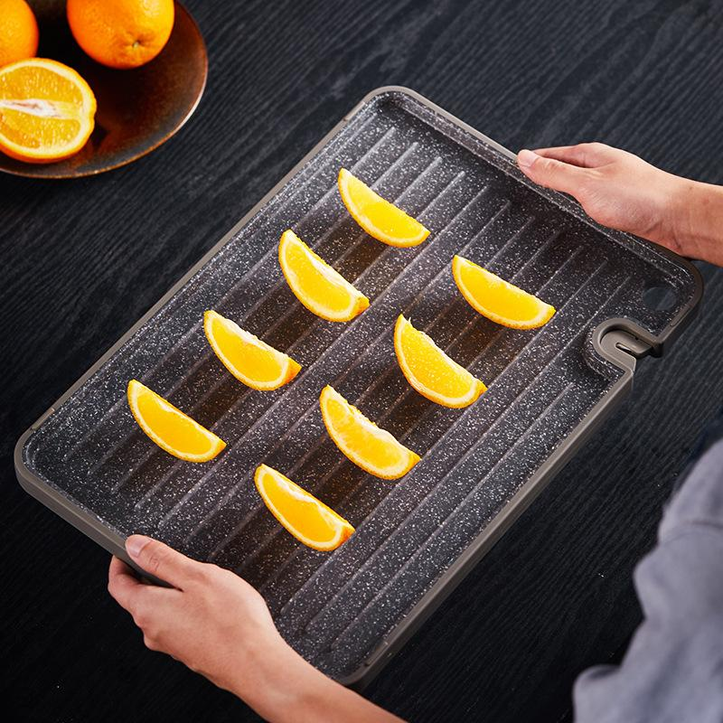 Antibacterial and mildew proof double-sided cutting board