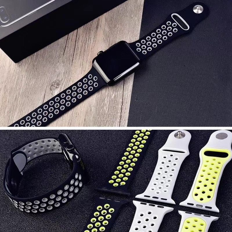 The new rainbow-colored sports strap 38mm 40mm 42mm 44mm is suitable for iWatch series 5/4/3/2/1 watch replacement bracelet watch replacement accessories