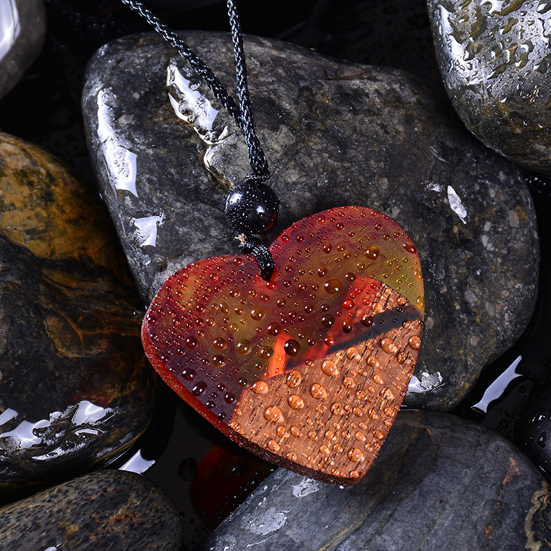 Heart-shaped Resin Necklace