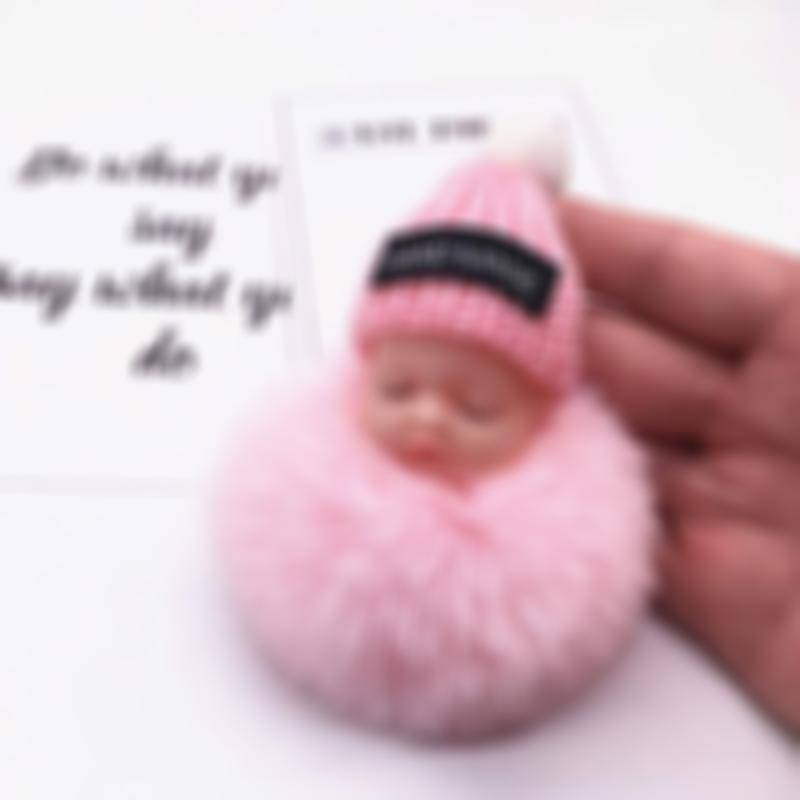 【Happy New Year】Hand-made Adorable Sleeping Baby Doll Keychain