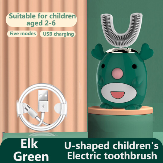 Smart 360 degree U-shaped children's electric toothbrush