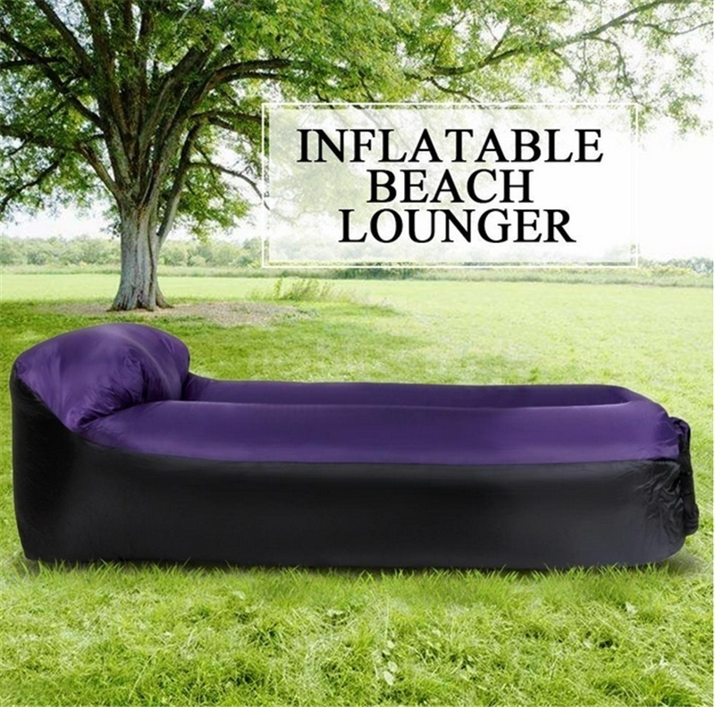 Outdoor Lightweight Inflatable Lounger Portable Air Beds Sleeping Sofa Couch for Travelling Camping