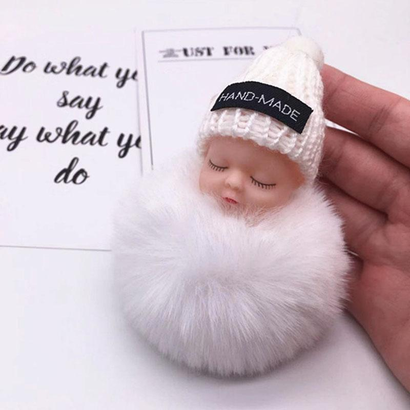 Hand-made Adorable Sleeping Baby Doll Keychain