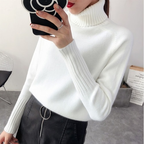 2020 WOMEN'S GOLF Cashmere Knitted Turtleneck Jersey Jumper Sweater