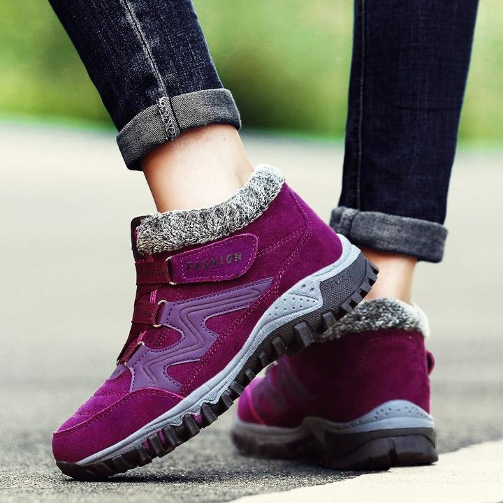 HOT SALE - Winter Thermal Villi Leather Platform Fashion High Top Boots