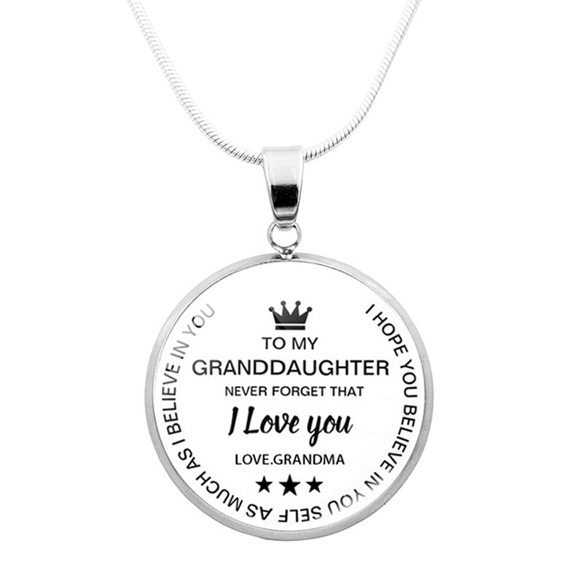 TO MY GRANDDAUGHTER - BELIEVE IN YOURSELF NECKLACE