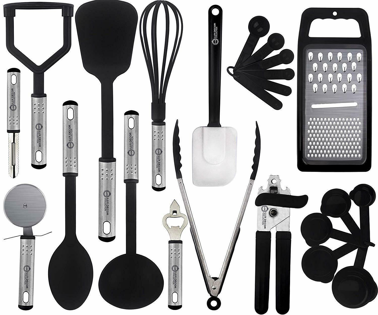 Kitchen Utensil Set 23 Stainless Steel Non Stick Cooking Bakeware Cookware