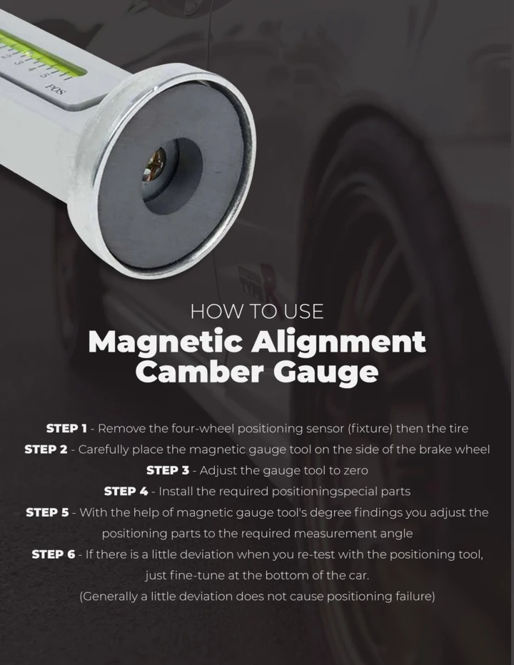 (New Year Promotion-SAVE 50% OFF) Magnetic Alignment Camber Gauge -Buy 2 Get Extra 10% OFF & Free Shipping