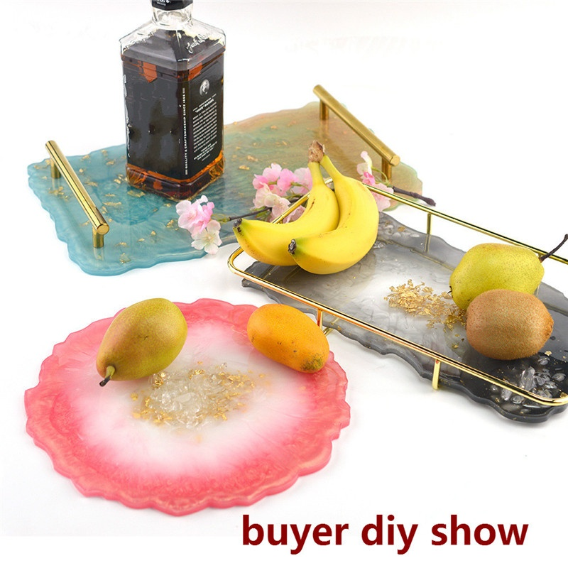 Big Tray Silicone Mold Fluid Artist Making Irregular Coaster Epoxy Resin Art Supplies Make Your Own Tray Epoxy Resin Molds