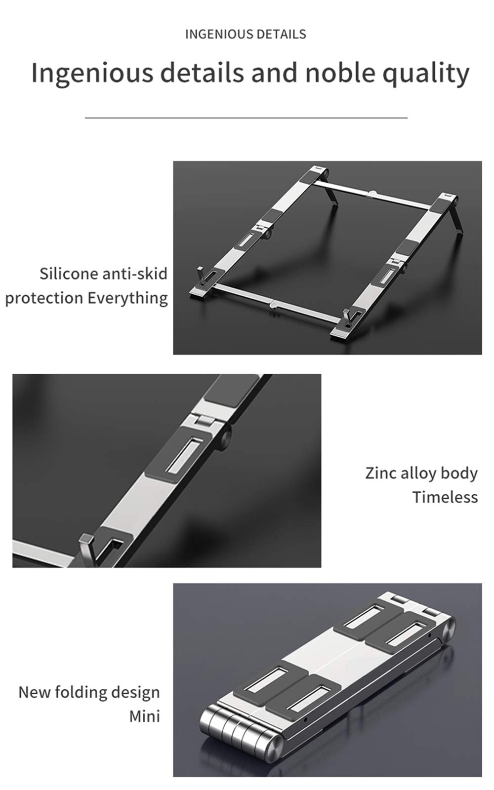 3-in-1 Multifunction Laptop Stand