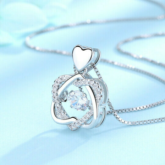 2021 HEART NECKLACE SET WITH ROSE(ORDER NOW TO GET IT BEFORE VALENTINE'S DAY)