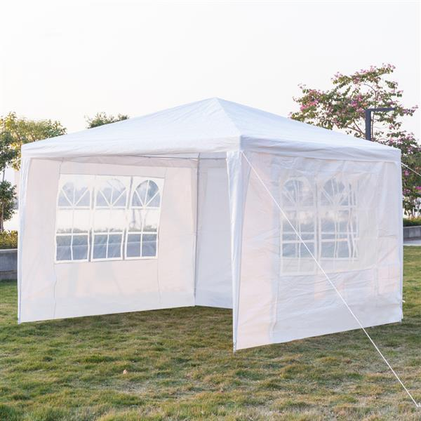 3 x 3m Three Sides Waterproof Tent with Spiral Tubes White [Delivery in5-7 days]
