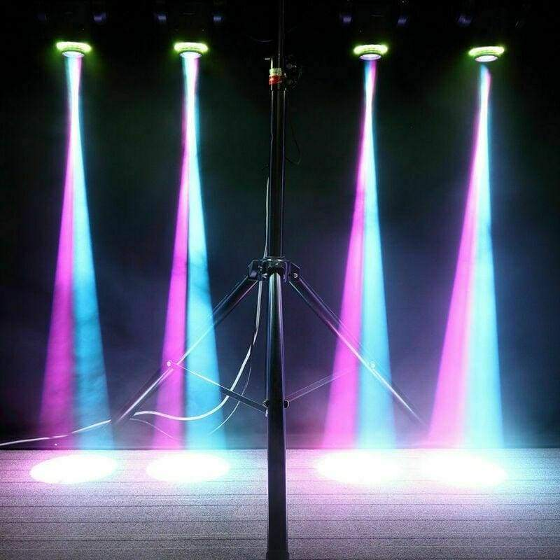One 50W LED Spot Moving Head RGBW 4 Color Stage Light with Colorful Ring DMX-512 10/12 Channels for Party Disco Dj Show